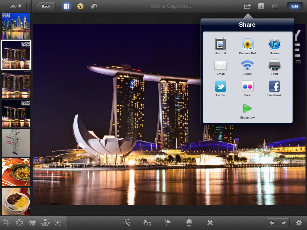 Iphoto for ios pinoy appler iphoto for ios new ipad user interface baditri Images