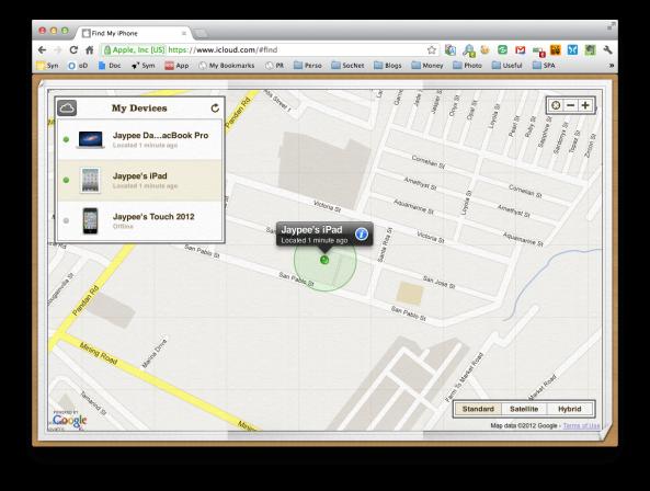 Find My Iphone Web via iCloud.com