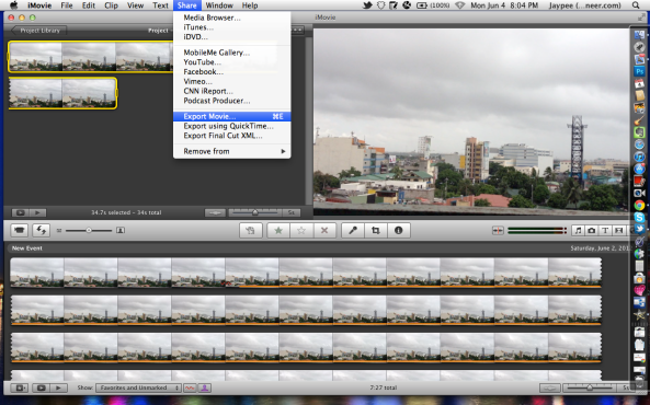Create time-lapse movie using iMovie for Mac
