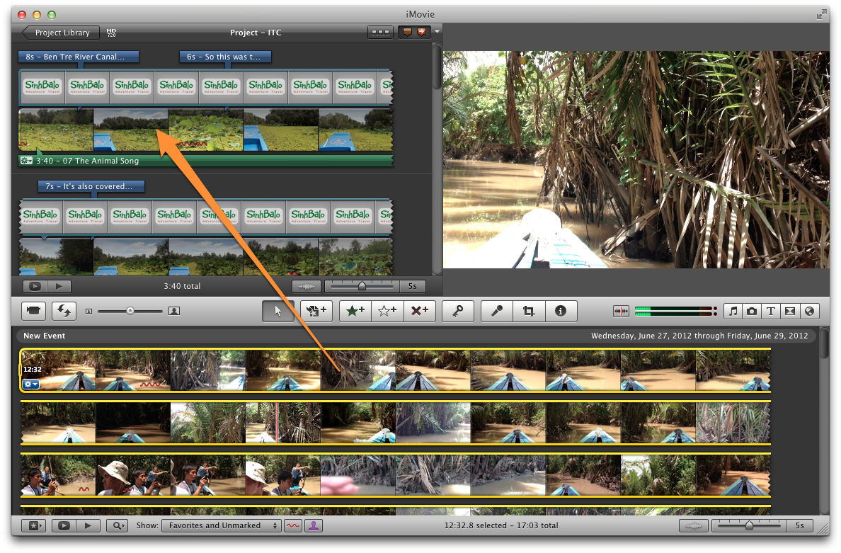 how to cut imovie on macbook