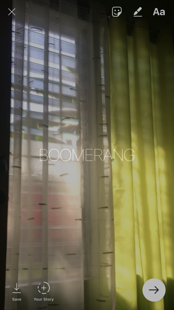 Make Live photos into Boomerang Instagram Stories